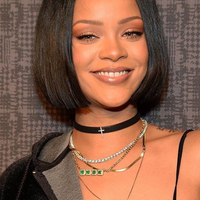 Rihanna blunt bob