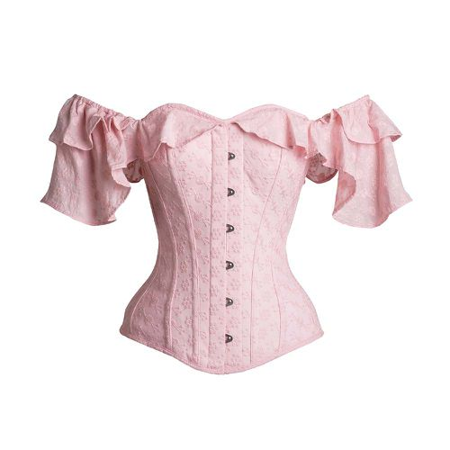 Pink Cotton Embroidery Anglaise Corset Top ($169)