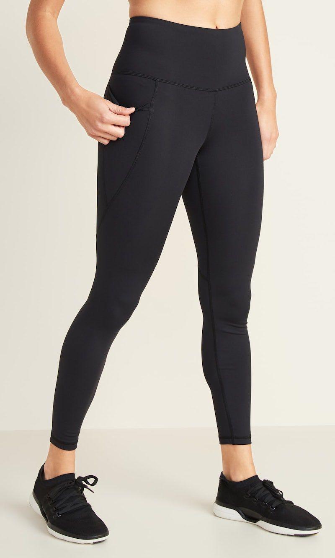 High-Waisted Elevate Powersoft 7/8-Length Side-Pocket Leggings For Women