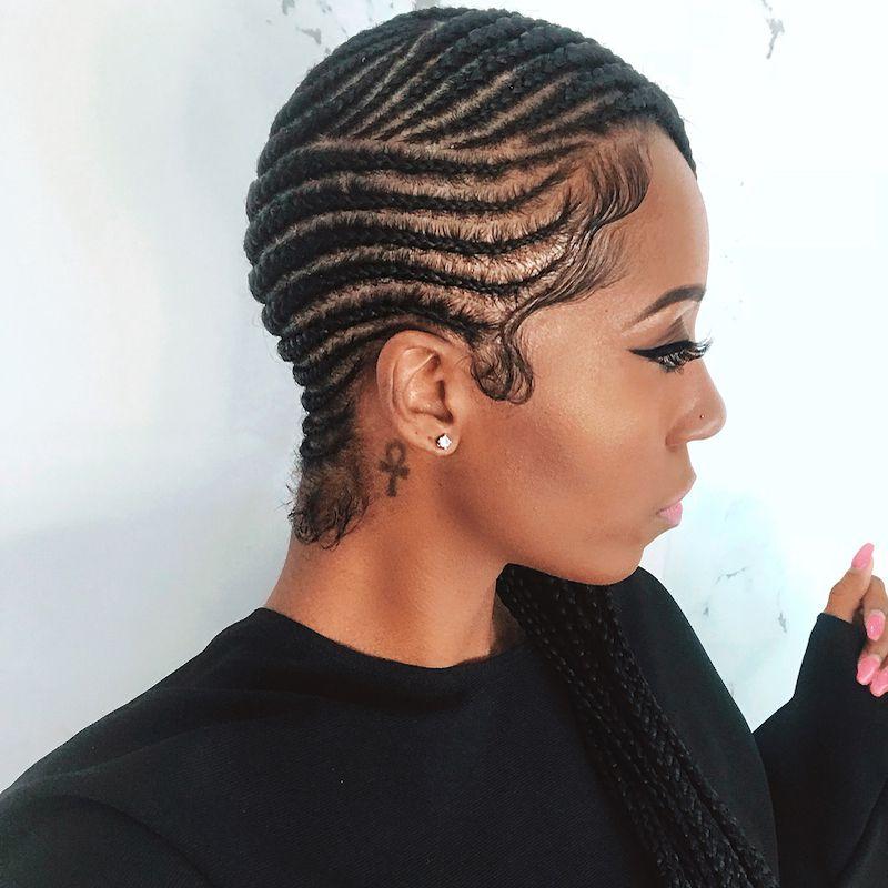Fulani Braids Deep Side Part