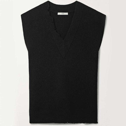 Oversized Distressed Wool Vest ($475)