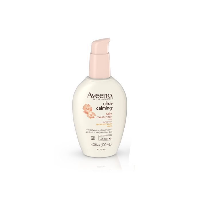 Aveeno Ultra-Calming Daily Moisturizer For Sensitive Skin With Broad Spectrum SPF 15 - post-inflammatory