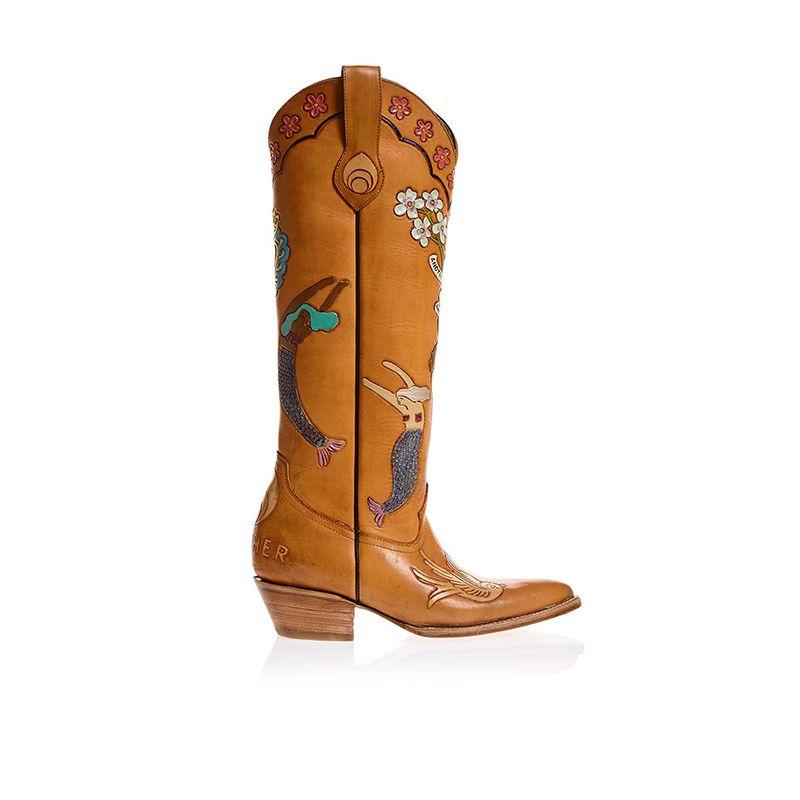 Mermaid Doodle Boots