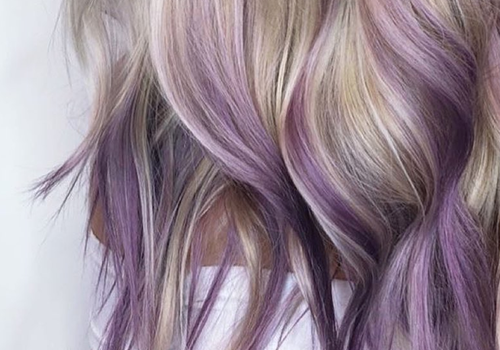 lavender purple highlights
