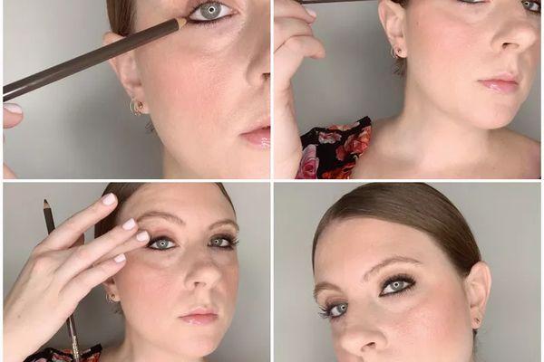 applying kohl eyeliner