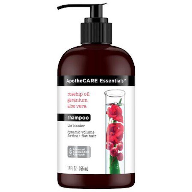 ApotheCARE Essentials Volumizing Shampoo Rosehip Oil, Geranium, Aloe Vera