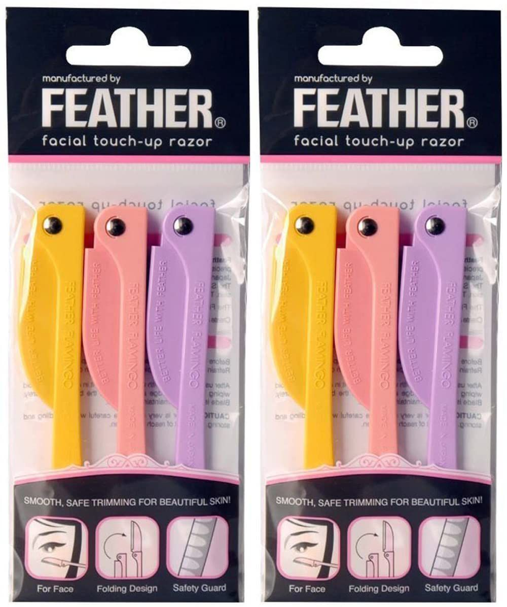 FLAMINGO Feather Facial Touch-Up Razor