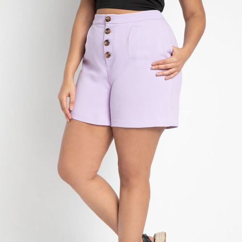 Eloquii High Waisted Button Fly Shorts