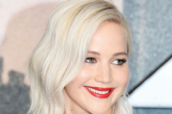 Jennifer Lawrence with silver-blonde hair