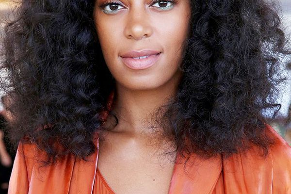 Solange with bangs