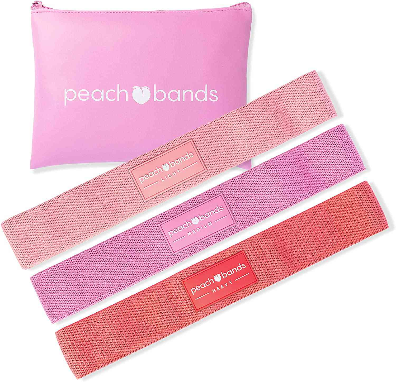 Peach Bands Fabric Resistance Bands