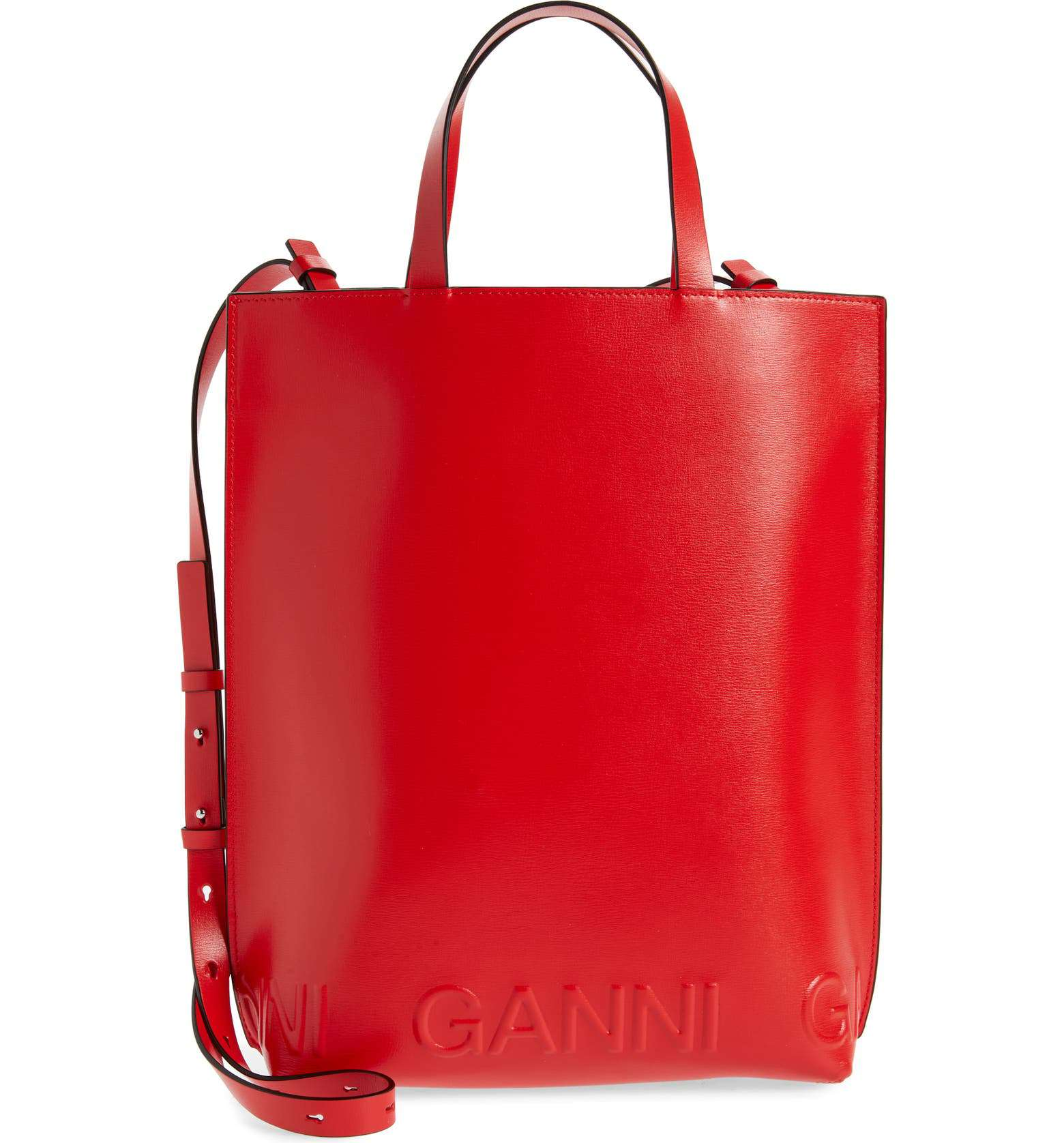 Ganni Medium Banner Recycled Leather Tote