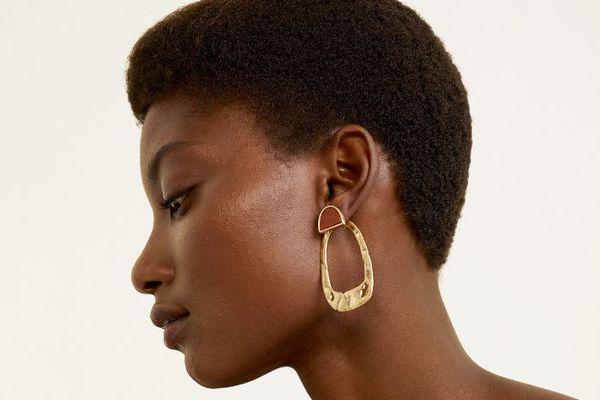 woman's side profile