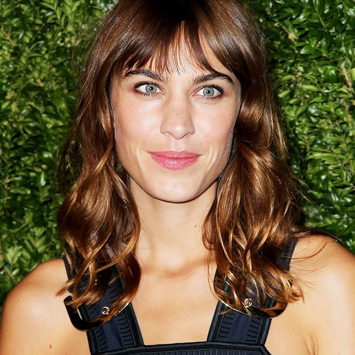 Alexa Chung With the Swag Hairstyle