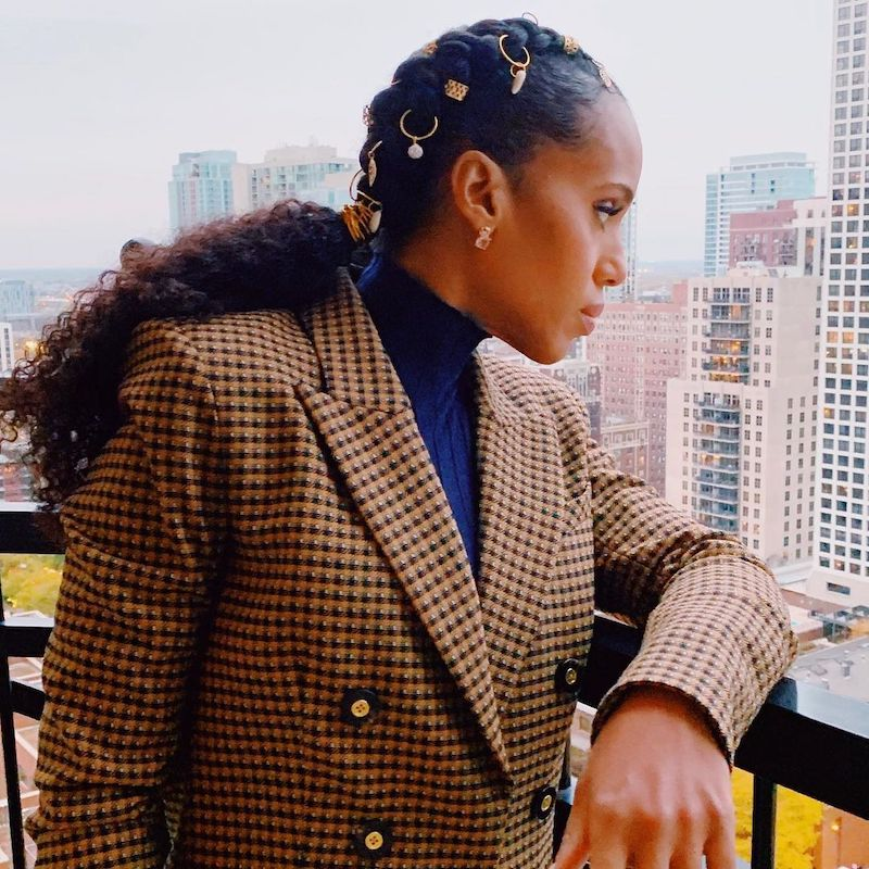 Cornrow Hairstyles Gilded Accents Kerry Washington