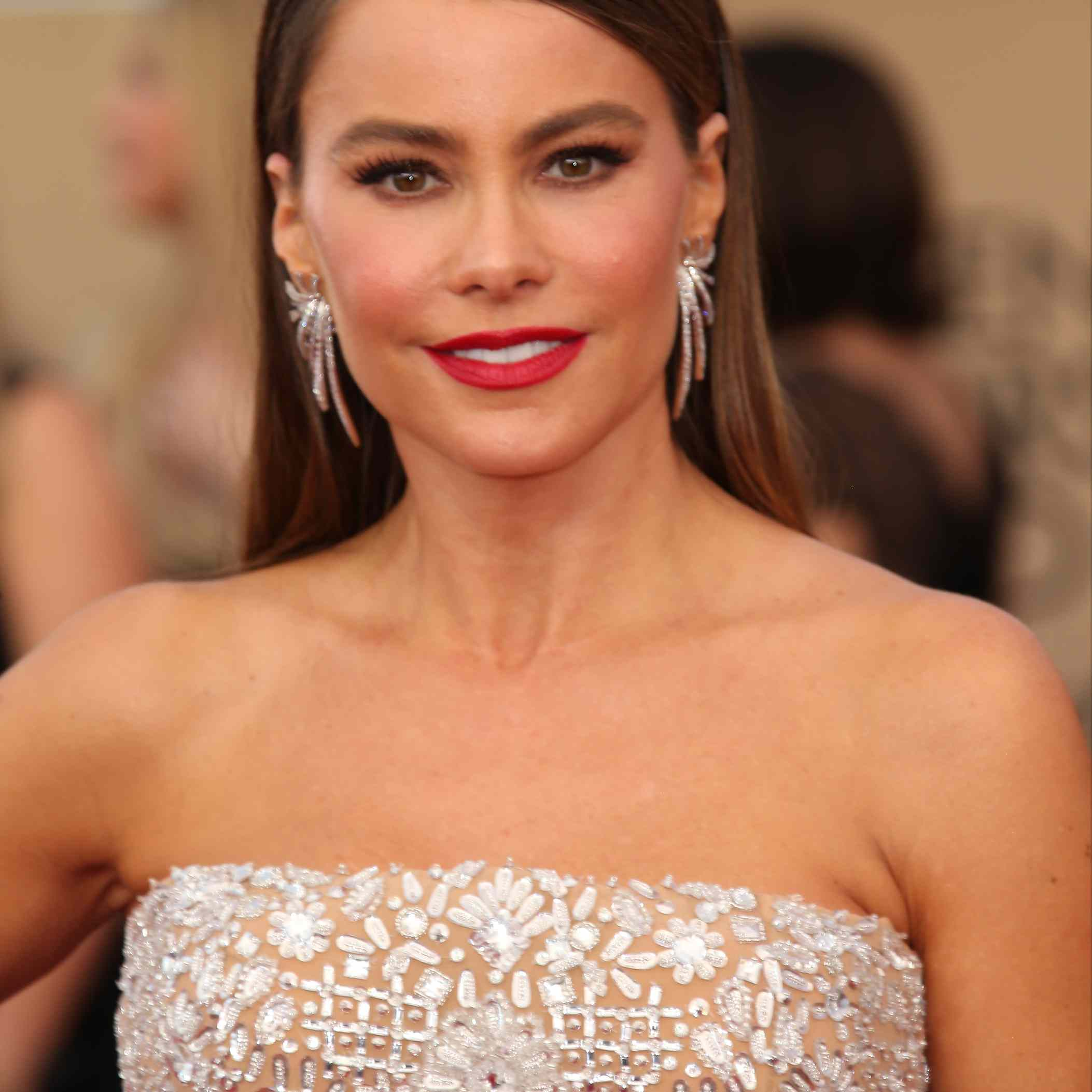 Sofia Vergara on the red carpet at the 23rd Annual Screen Actors Guild Awards