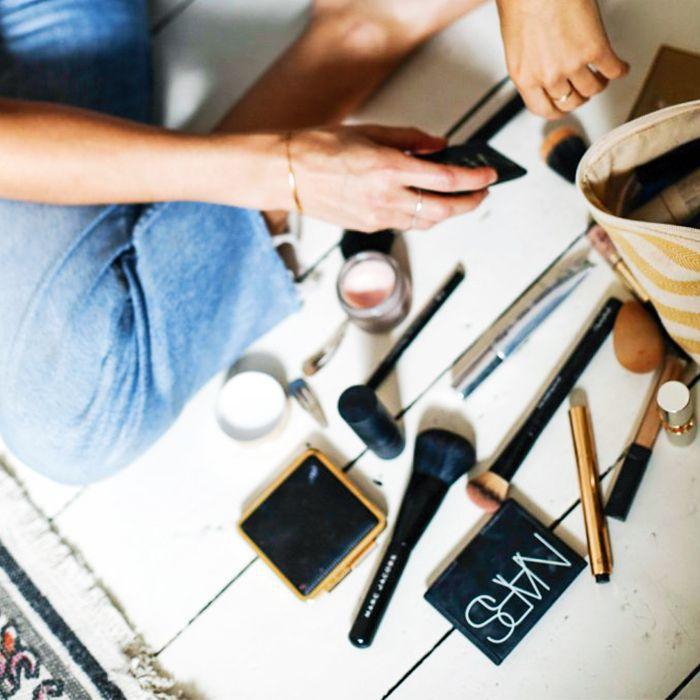 Best makeup brushes: Lucy Williams makeup bag