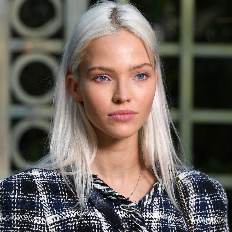 White Blonde Hair Sasha Luss