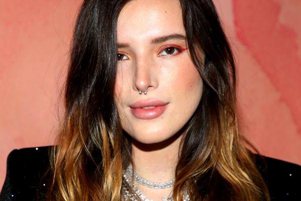 Bella Thorne ombre hair cbr nose piercing