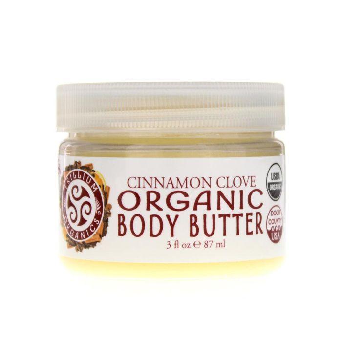 Trillium Organics OG Body Organic Body Butter in Warming Cinnamon Clove