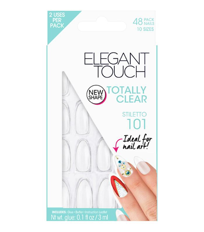 Elegant Touch Totally Bare Nails in Clear Stiletto 101