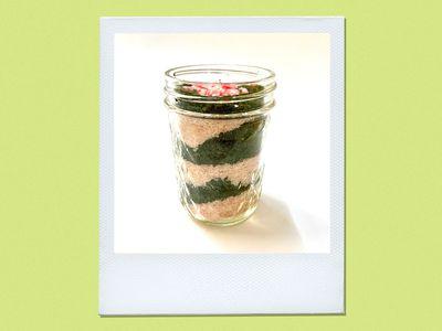 diy candy cane sugar scrub in a jar