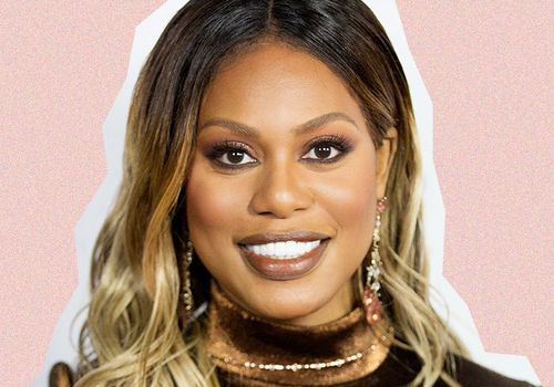 Laverne Cox with ombre hair