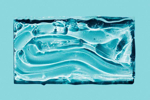 squalane on blue background