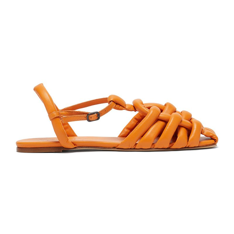 Cabersa Woven Padded-Leather Sandals