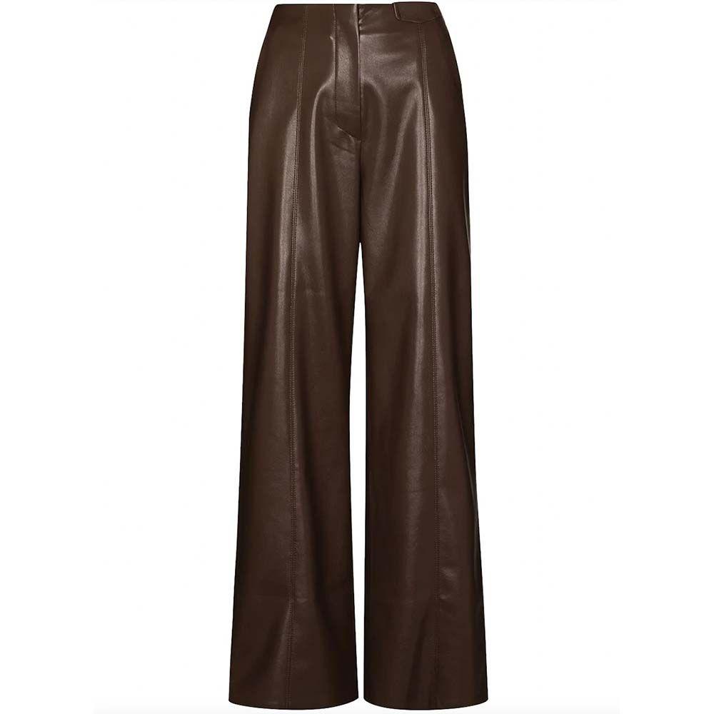 Namas Vegan Leather Straight Cut Pant