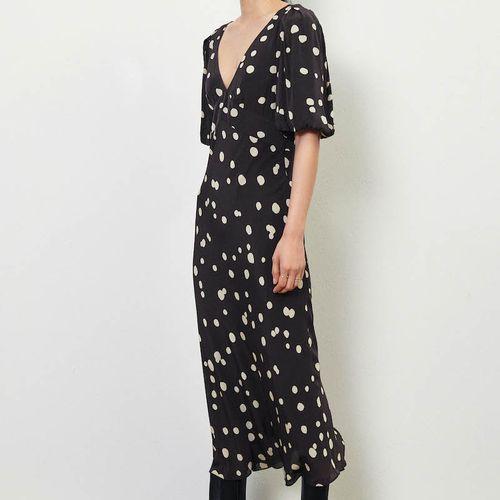 Ba&Sh Delize Polka Dot Midi Dress