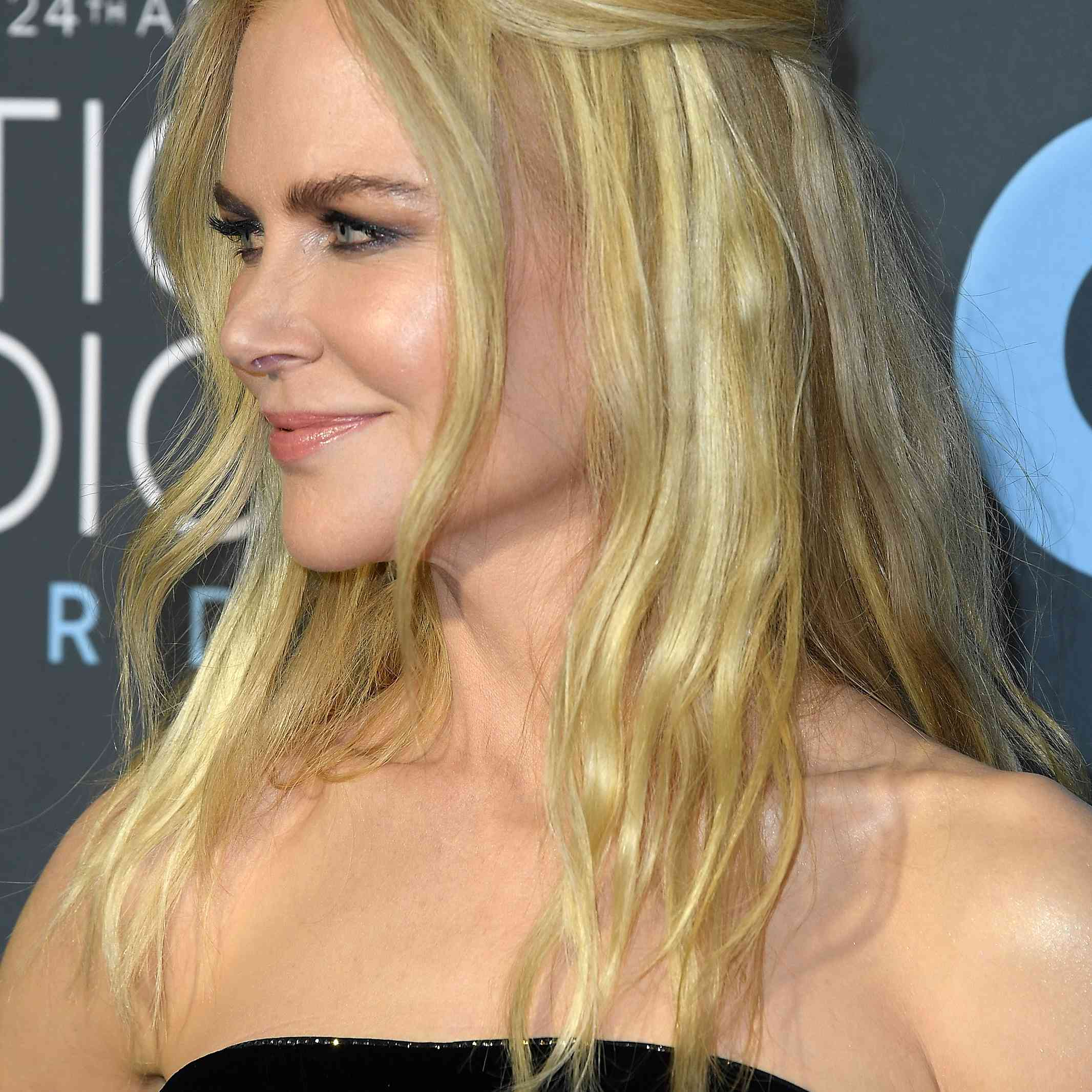 Nicole Kidman's easy half-up 'do