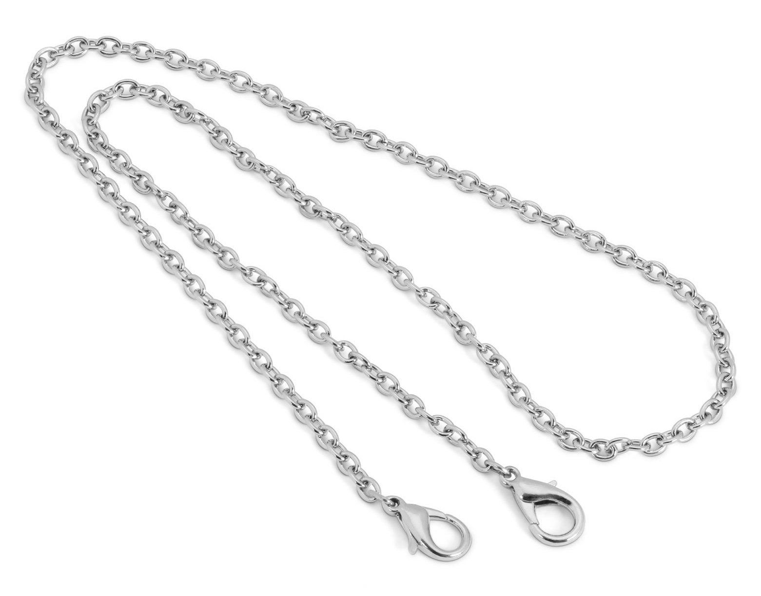 1928 Jewelry Silver Tone Chain Mask Holder