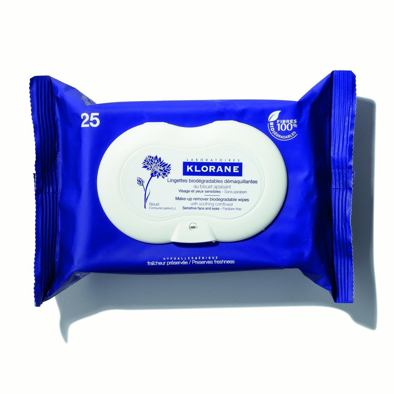 Klorane Make-up Remover Biodegradable Wipes