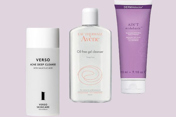 a trio of face washes