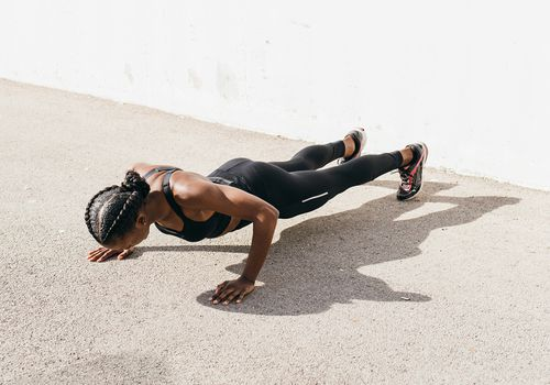 Woman performing a plank