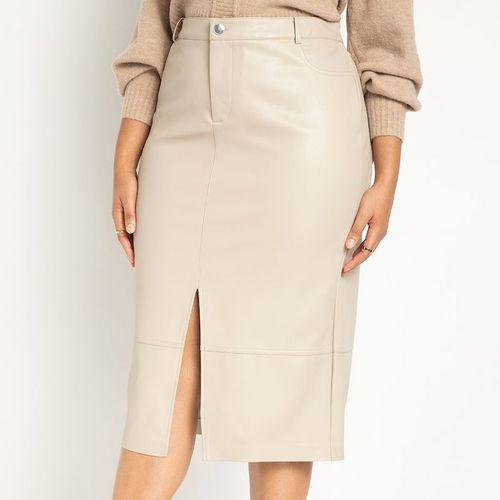 Eloquii Leather Midi Skirt