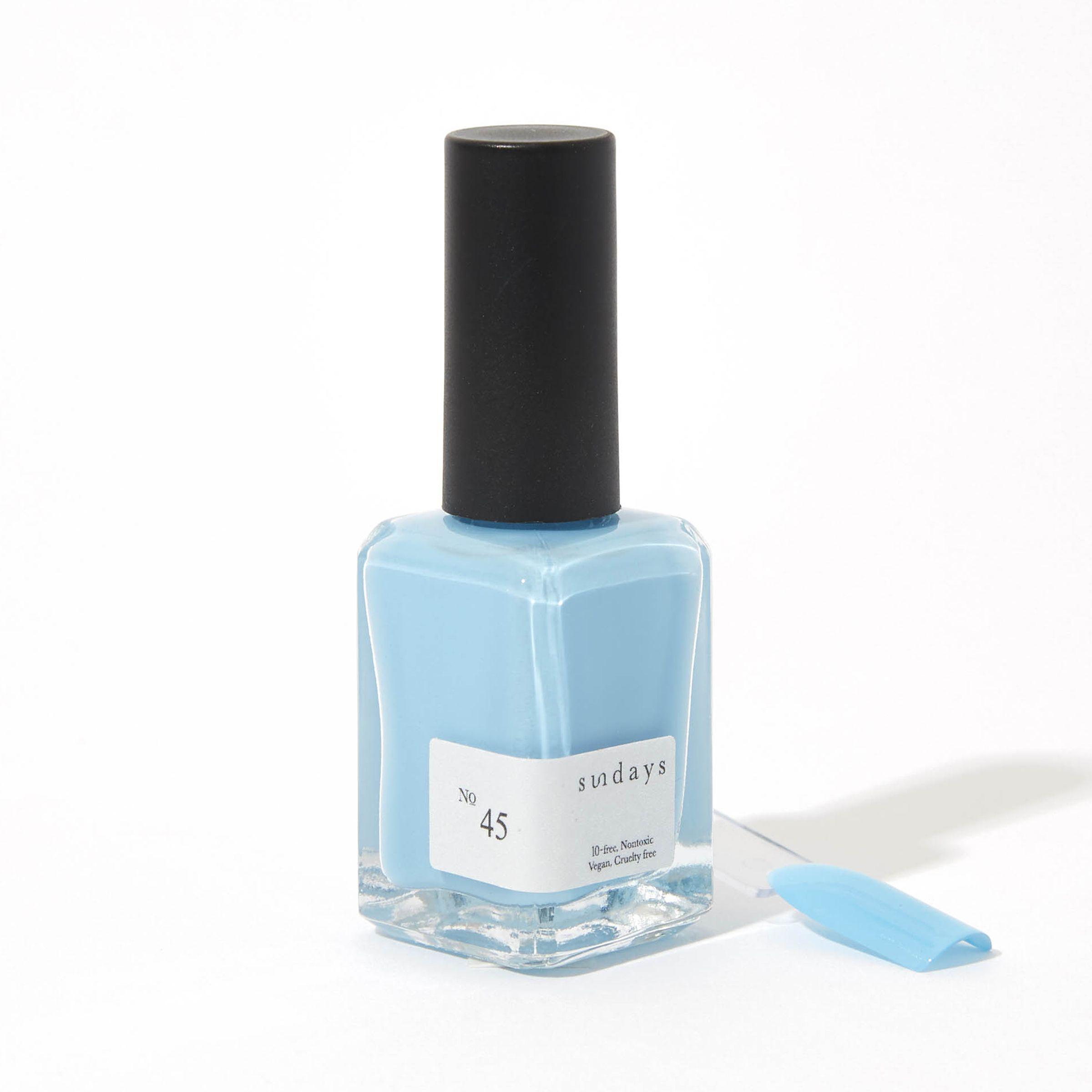 sky blue nail polish bottle