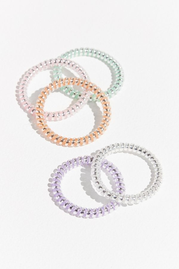 Urban Outfitters Slim Telephone Cord Hair Tie Set