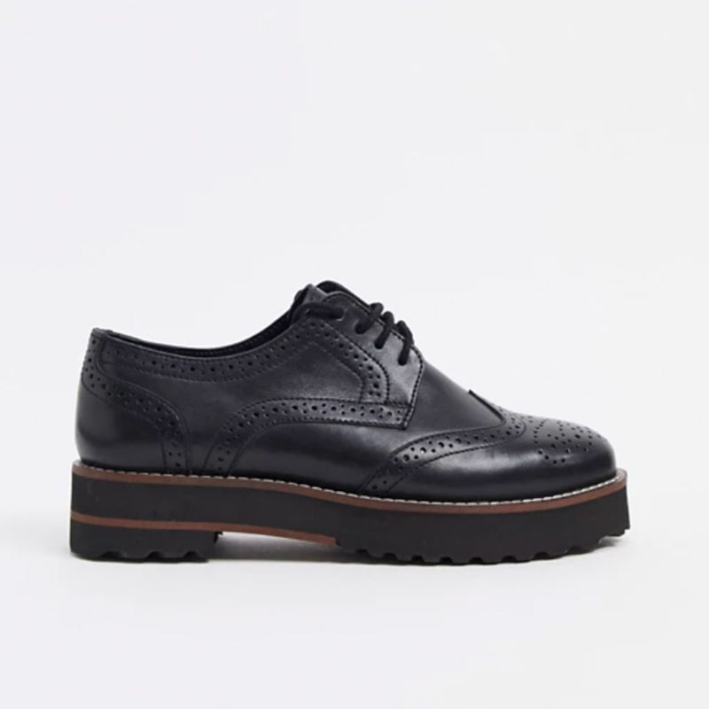 Mottle Leather Flat Brogues