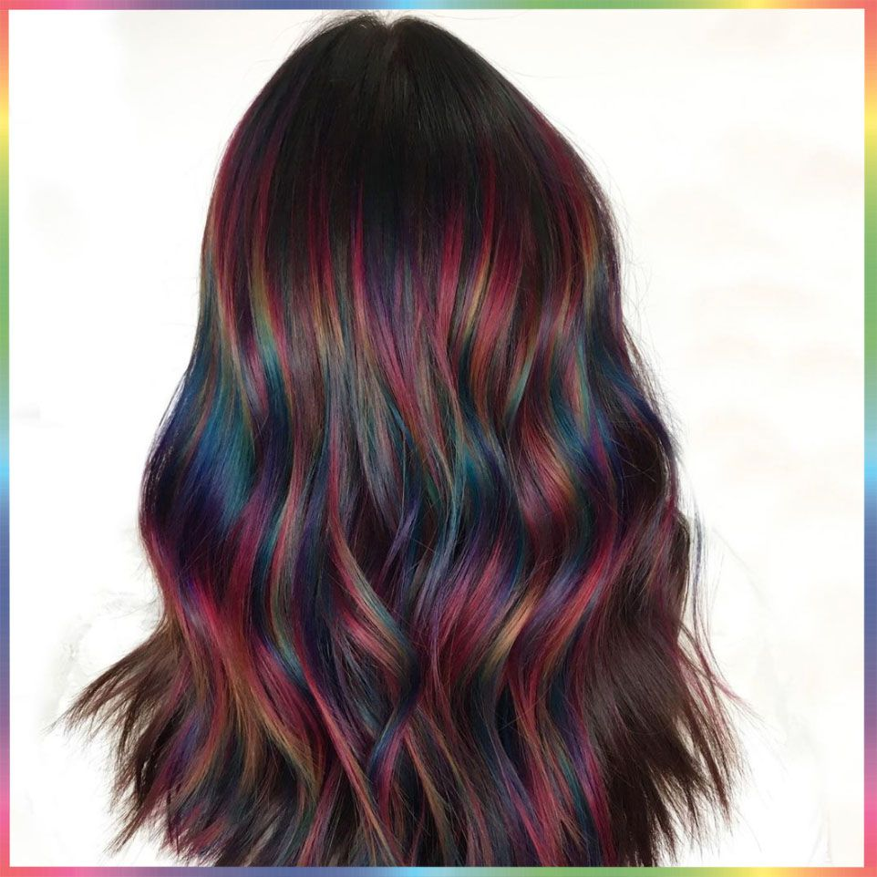 Oil Slick Hair Is a More Subtle Way to Wear the Rainbow Hair Trend