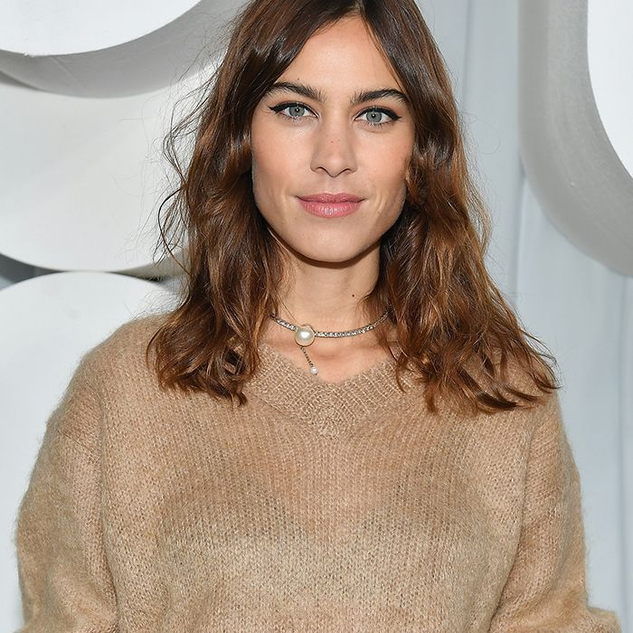 We Can't Stop Thinking About Alexa Chung's New Darker Lob