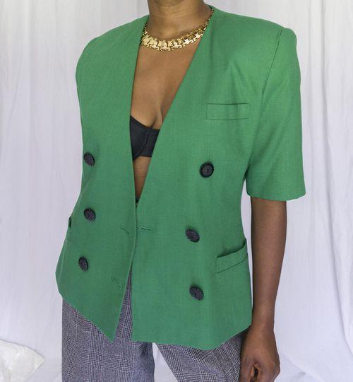 Vintage Short Sleeve Blazer ($28)