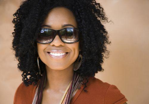 black woman with crochet braids