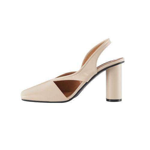 Reike Nen Piping Side Cut White Heels