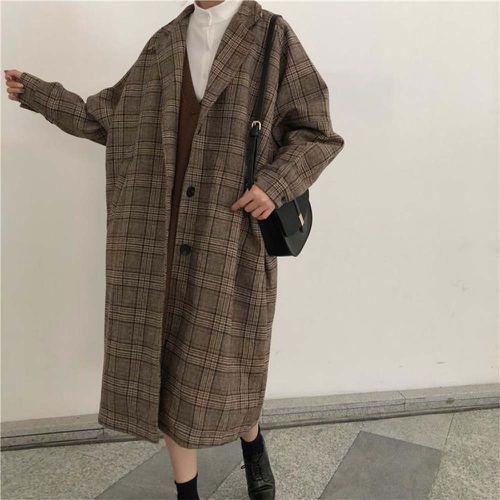 Dark Academia Style Vintage Long Coat ($102.90)