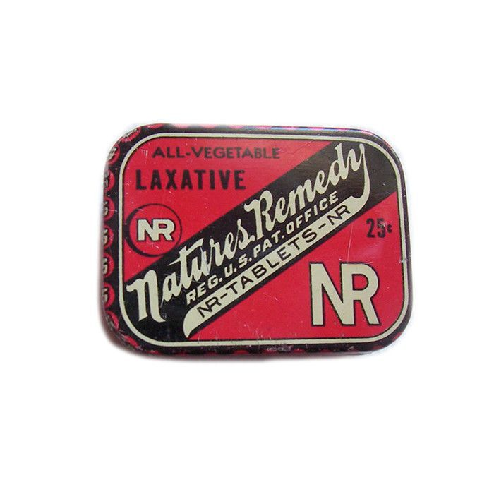 Tin of Nature's Remedy Laxatives