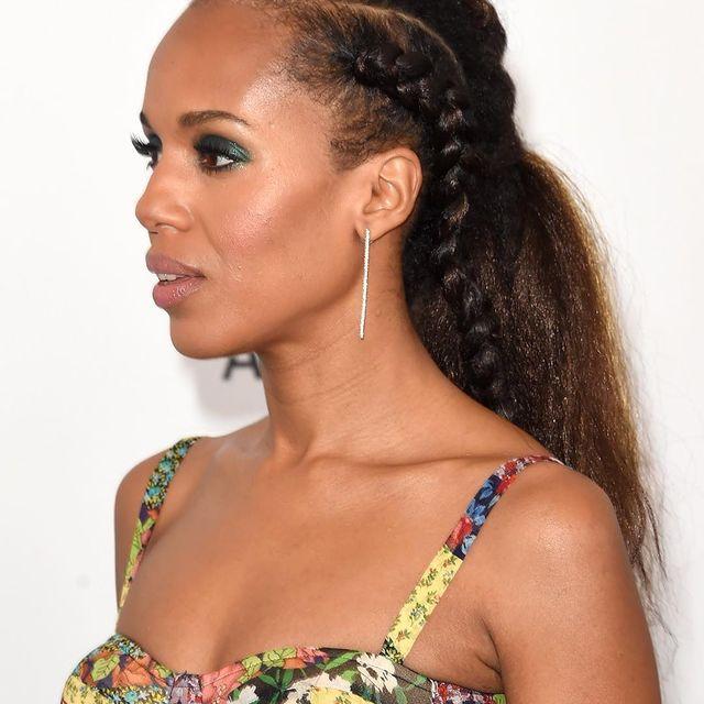 Kerry Washington braided hairstyle