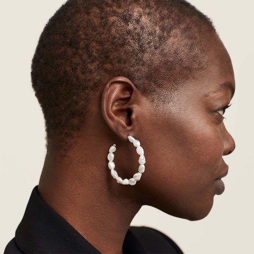 Bold Pearl Hoop Earrings ($90)