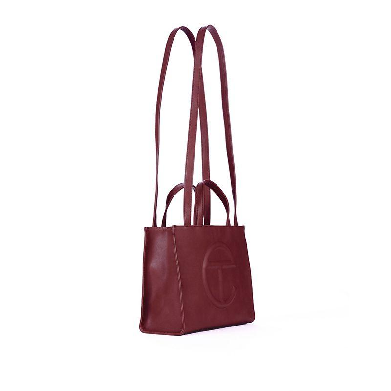 Medium Oxblood Shopping Bag